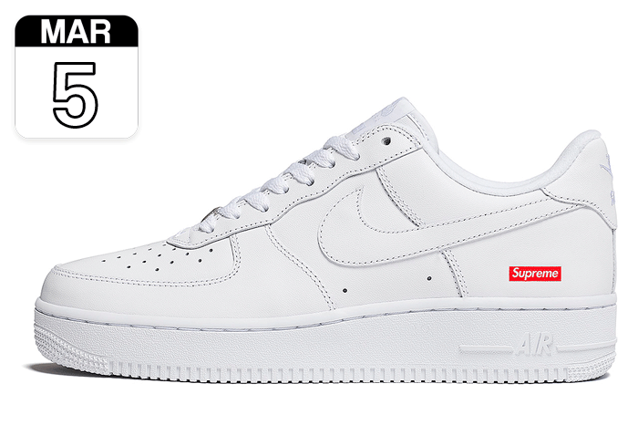 "Supreme x Nike Air Force 1 Low ""Blanco"" 
