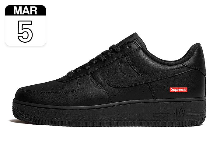 "Supreme x Nike Air Force 1 Low ""Negro"" | CU9225-001"