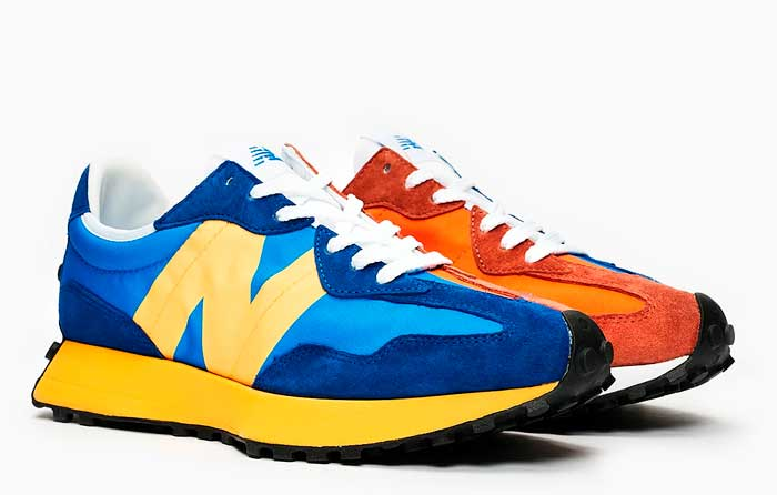"New Balance 327 ""Azul/Naranja"" | MS327LAA"