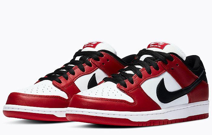 "Nike SB Dunk Low Pro ""Chicago"" | BQ6817-600"