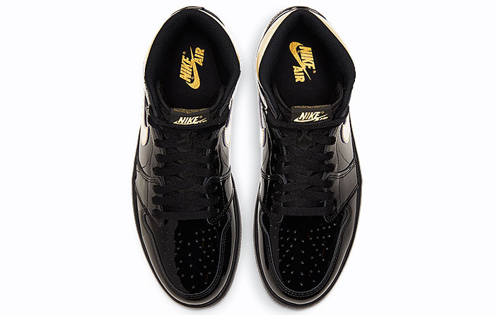 "Nike Air Jordan 1 Retro High ""Black Metallic Gold"" | 555088-032"