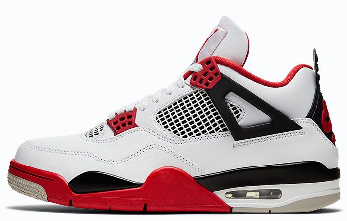 "Nike Air Jordan 4 Retro ""Fire Red"" 