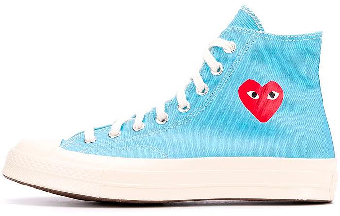 CDG x Converse Chuck 70 High Azul