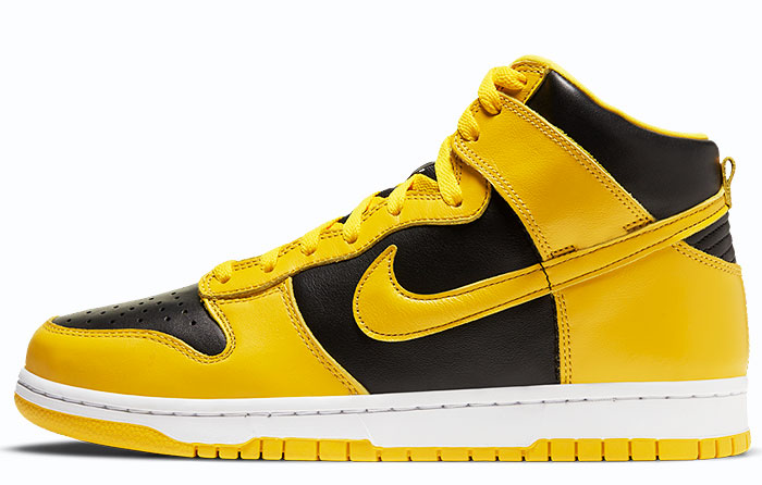 "Nike Dunk High ""Black Varsity Maize"" | CZ8149-002"