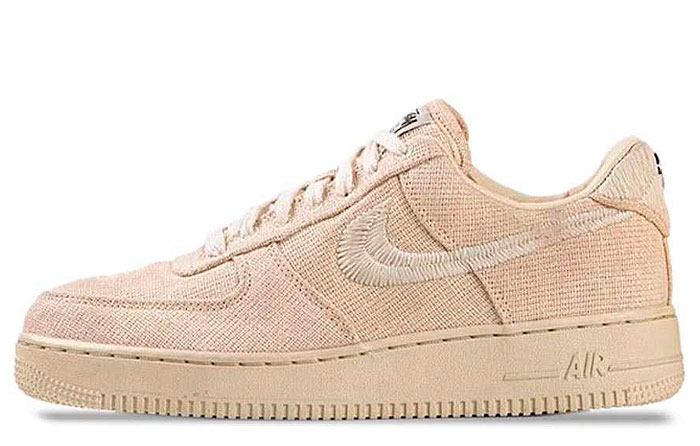 """Stussy x Nike Air Force 1 Low """"Fossil"""" 
